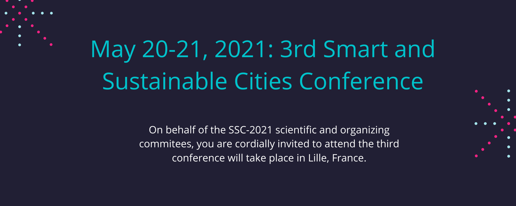Conference smart and sustainable cities FGES